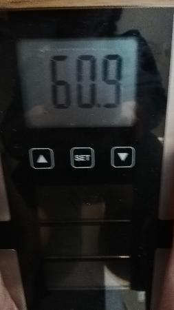ファスティング前日の体重